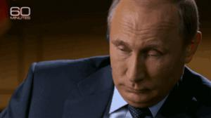 Gif avec les tags : Poutine,Russie,rictus,rire,russianstrong,sourire